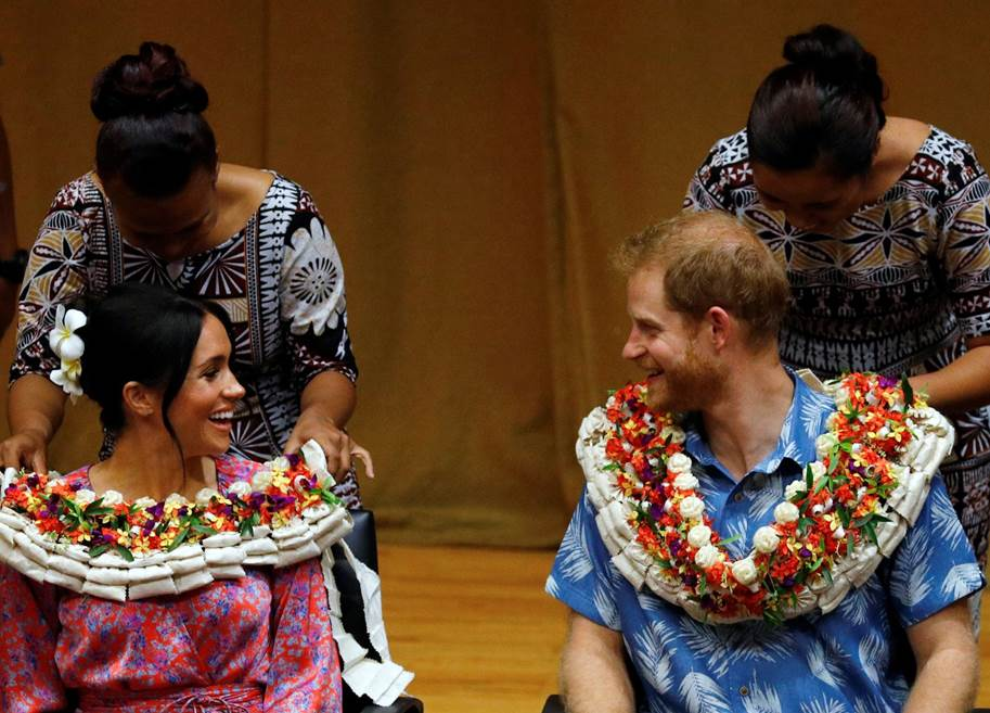 Prince Harry And Meghan Duchess Of Sussex Visit The University Of The South Pacific In S
