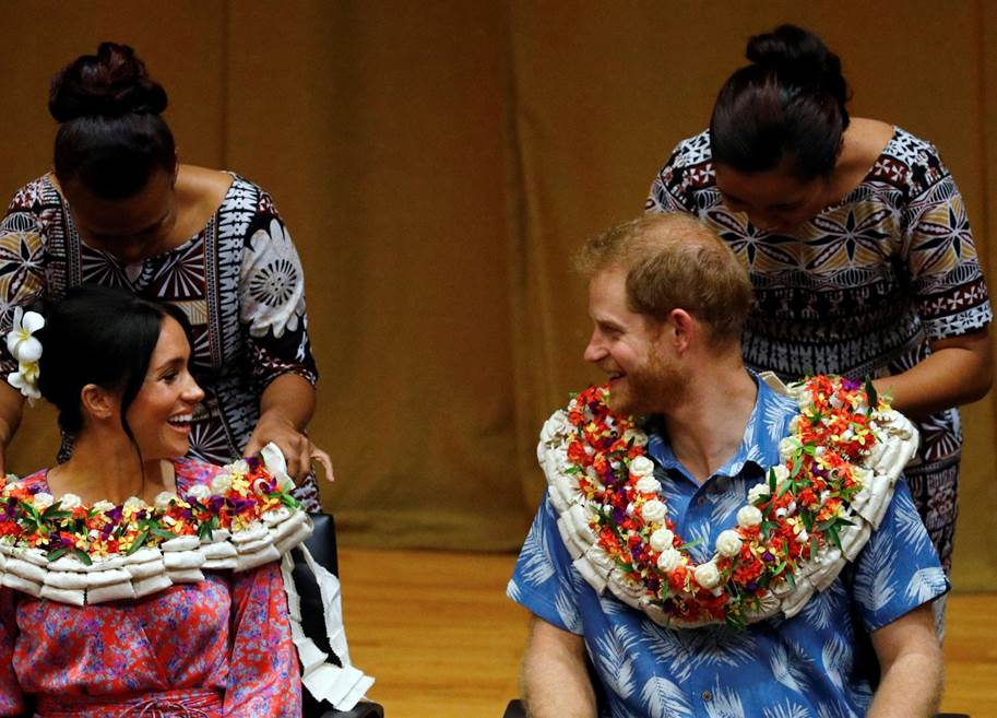 Harry and Meghan at University of South Pacific