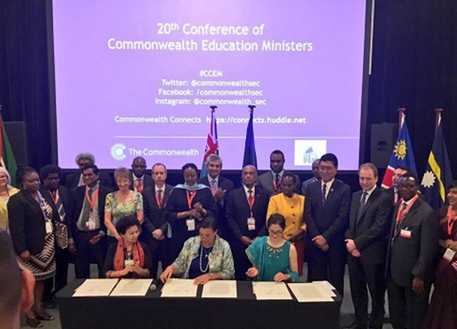 Commonwealth Education Pledge Signing News