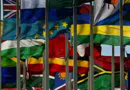 Commonwealth flags (CREDIT: Image by REUTERS /Yves Herman)