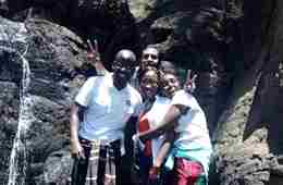 Rob - Kenya FE-2016-17 - Moi Water Falls With Friends