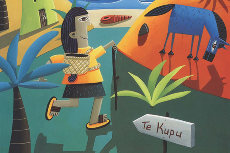 A new dawn for te reo Māori | CAPTION: Artwork from a Māori language learning textbook written by the late John Moorfield, Professor in Māori Innovation and Development at Auckland University of Technology (1)