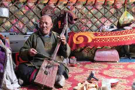 Archiving our intangible heritage | A Durvud man is recorded playing the ikel (image by Tsendee Yunger) RESIZED v3