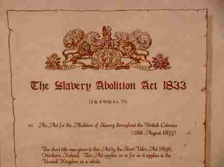 Slavery Abolition Act document 1833 | Credit: Wreford Miller via Flickr licensed under CC BY-NC-ND 2.0